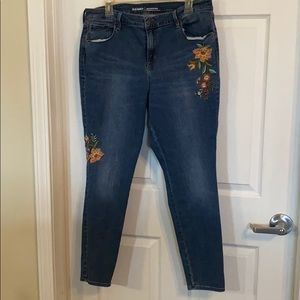 Old Navy Rock Star embroidered jeans 16